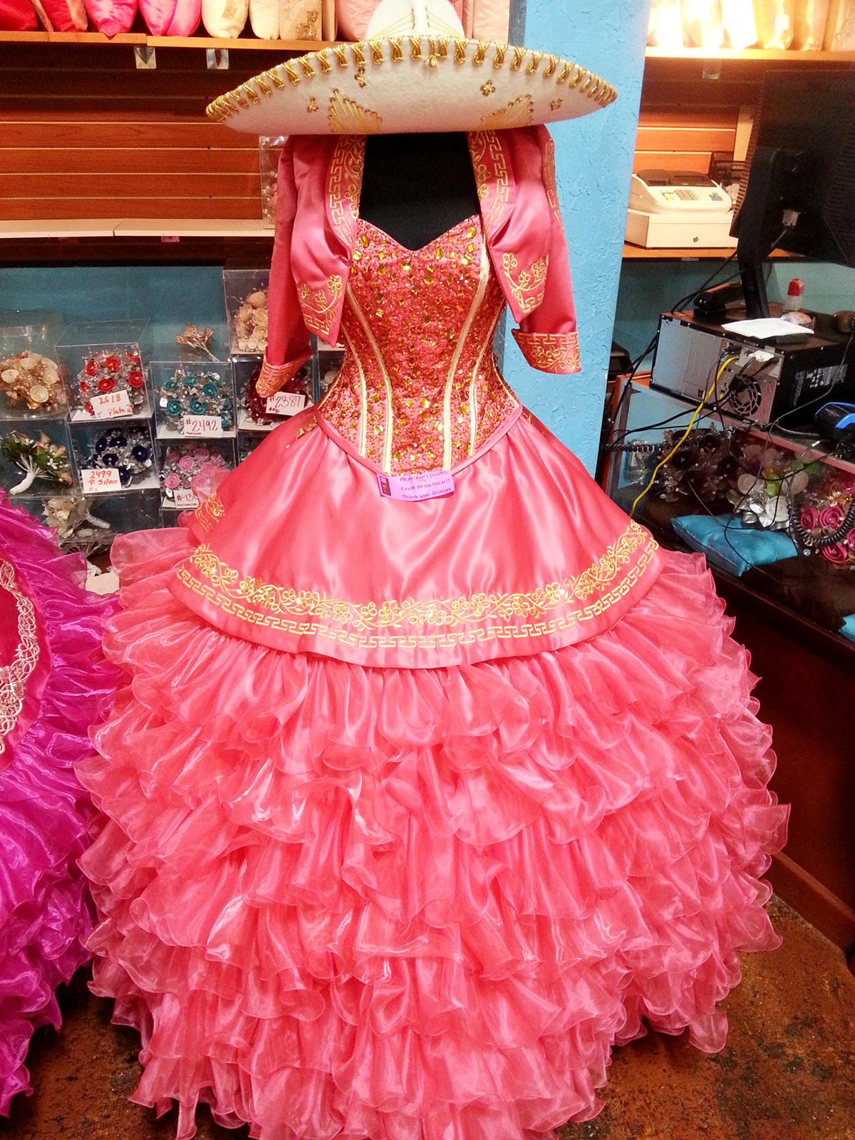 la glitter quinceanera dress