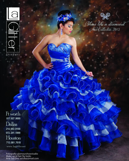 La Glitter Azul