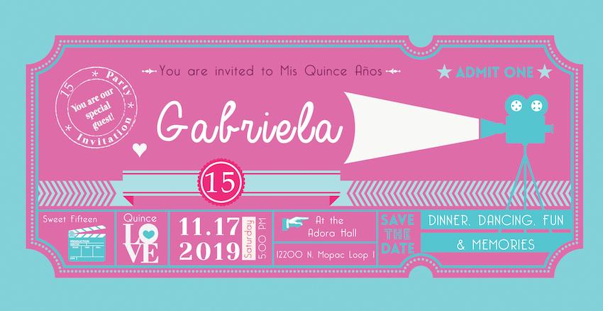 yanire yanez quinceanera invitations