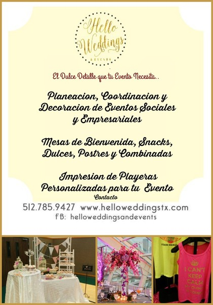 hello weddings and events event planning
