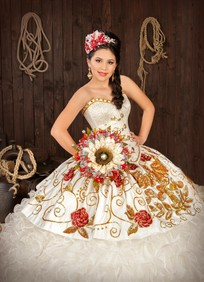 charro style quinceanera dress